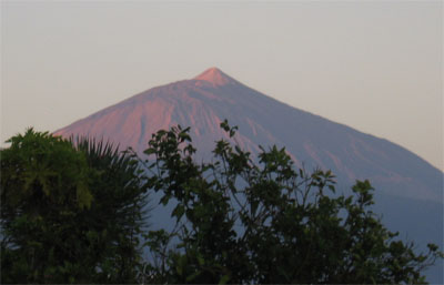 El Teide, the volcano on Tenerife, in the morning light