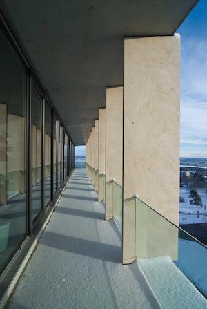 Balcony along HIT