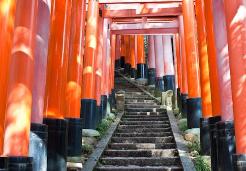 Vermilion Torii on Inari-san (Fushimi Inari)
