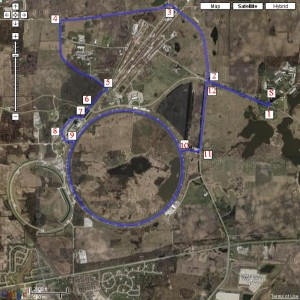 Bike Route for the Fermilab Triathlon