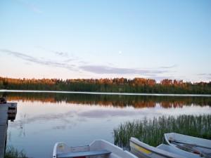 Le lac près de l'institut