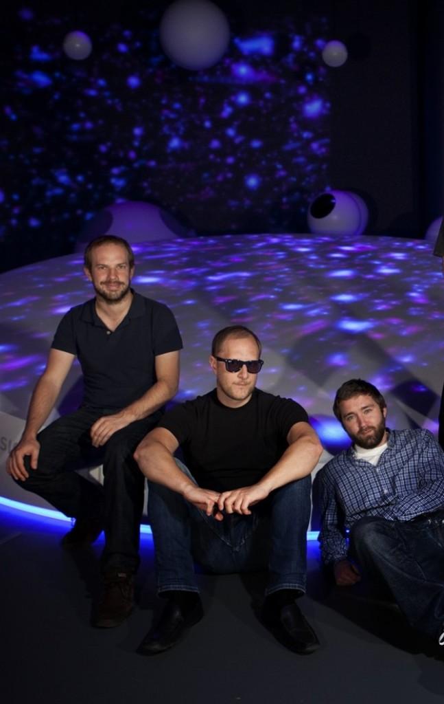 Posing. (left to right, Nick Barlow, myself, Christian Ohm).
