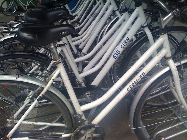 CERN bikes.