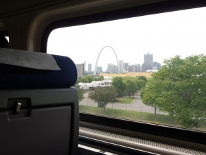 St. Louis Arch from my train seat