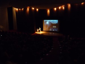 Ramsey Auditorium at Fermilab at the start of the Angels and Demons Antimatter lecture last Thursday