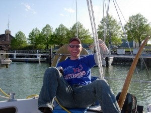 Me safely moored in Waukeegan Harbor.