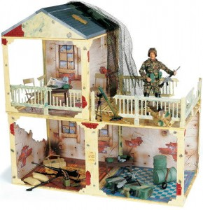 GI Joe goes room to room