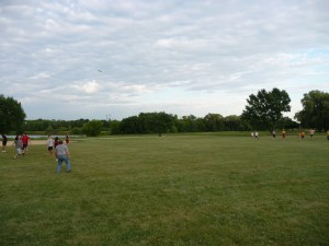 We had a great turnout of 22 people for ultimate frisbee this Tuesday.