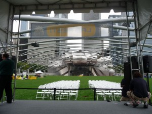 The view from the stage where we would be performing our show.