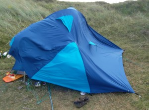 My tent in the wind