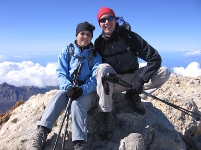 My wife and I on the Top of Spain.