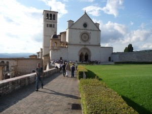The Cathedral of San Francescso of Assisi.