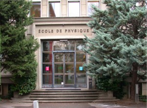 Entrance of the Ecole de Physique of the Universite de Geneve - venue of the first two days of the EUDET Annual Meeting 2009.