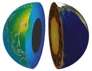 Profile of the Earth seen by geo-neutrinos observed with KamLAND experiment