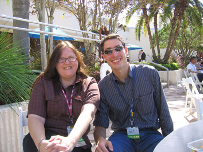 Ingrid and me during lunch at the pool... Nice to be outside in the warm air!