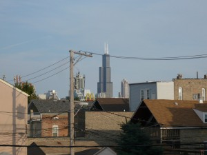 Sears tower from backporch