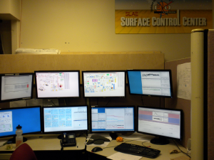 The SLAC surface control center.