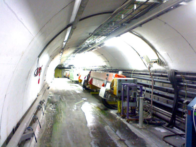 A possible site for the experiment: A steep transfer tunnel from the SPS to the CERN West Area.