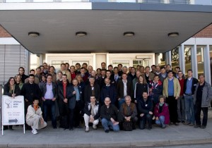 Group picture of the participants of the ATLAS Upgrade Week 2010 at DESY in Hamburg (Barbara Warmbein, DESY). It will probably be remembered as DESY volcano meeting.