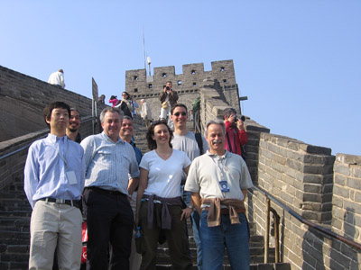 A small subset of CALICE on the Great Wall of China at Badaling.