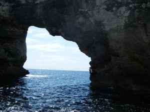 "At ""The Arch"" in Mallorca"