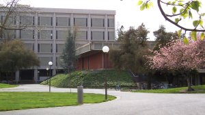 Physics Building (Background) and Undergraduate Physics Labs (Foreground)