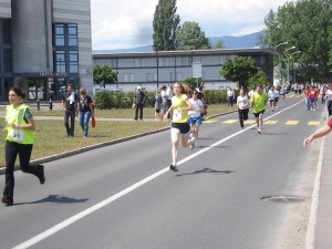 Runners taking part in the relay race