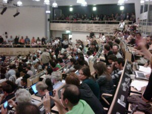 The crowd in the auditorium (Thanks to Kathryn Grim)