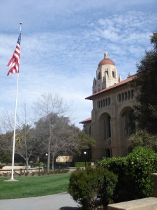 Arrival at Stanford