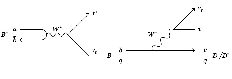 Standard model decays of the B mesons to τν, Dτν, and D*τν final states