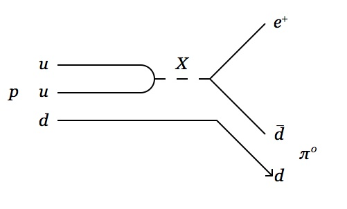proton decay, mediated by a leptoquark
