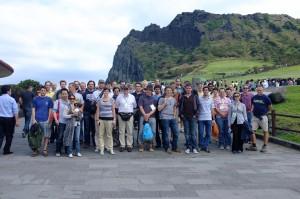 VERTEX 2012 Conference attendees at Sunrise Peak, Jeju