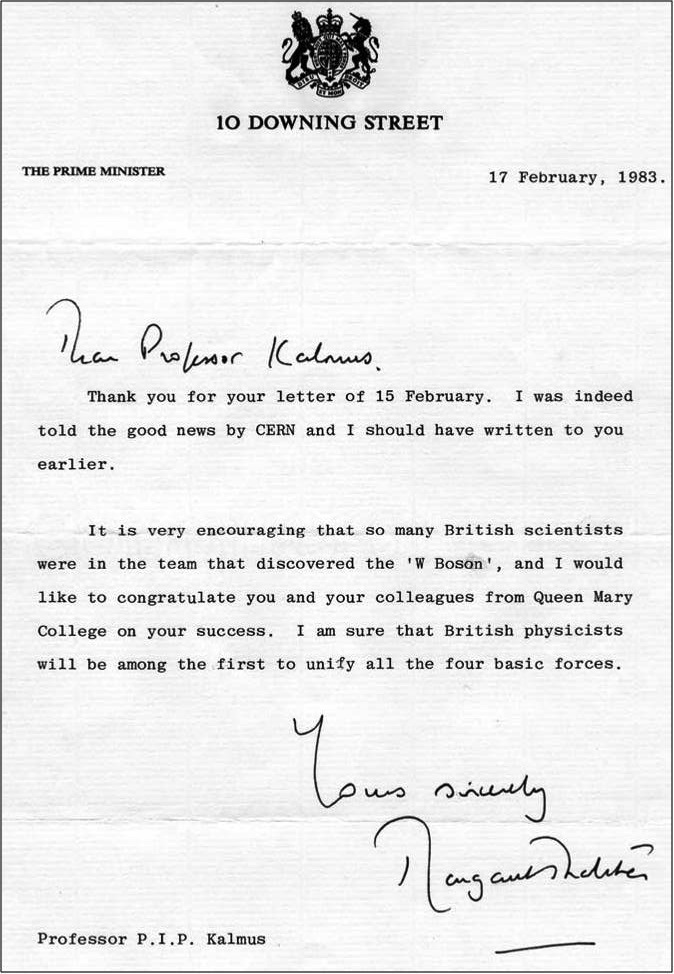 Thatcher's letter to Kalmus
