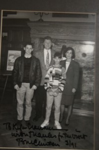 Kyle Cranmer with Bill Clinton in Arkansas Governor's office in 1991.