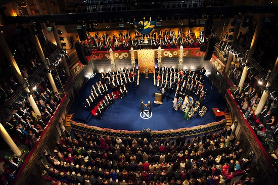 The 2012 Nobel Prize Award Ceremony (Copyright © Nobel Media AB 2012 Photo: Alexander Mahmoud)