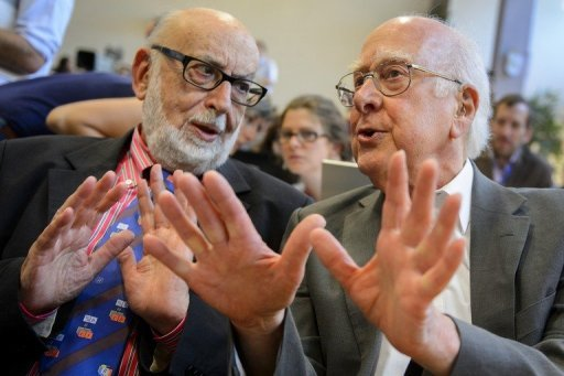 Professors Englert (right) and Higgs - 2013 Physics Nobel Laureates.