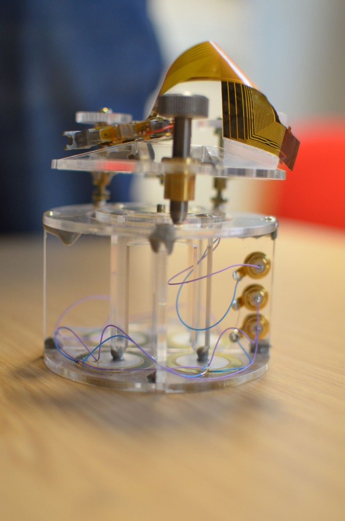 The atomic force microscope hacked by Lego2nano students. Image courtesy James Doherty.