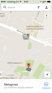 CERN as a pokelab on google's pokemon app