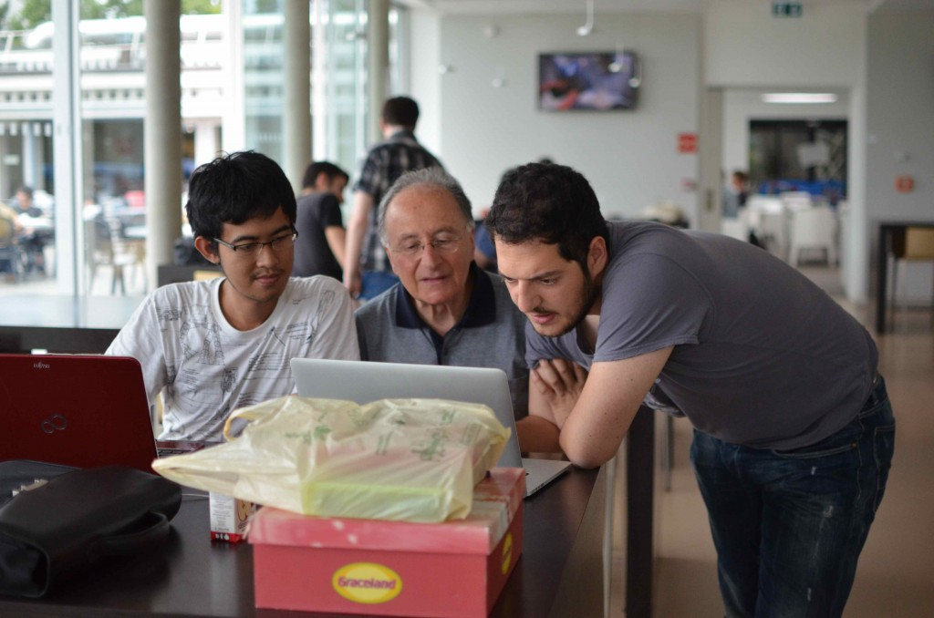 Students had the opportunity to with Ben Segal, an inductee of the Internet Hall of Fame.