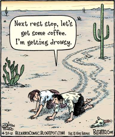 Physicists taking first steps out into the electroweak desert will still need their caffeine.