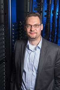 Fermilab's Oliver Gutsche leads worldwide computing operations for the CMS experiment. Photo: Reidar Hahn