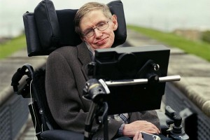 Stephen Hawking, with the computerised speech system that has allowed him to communicate after losing his ability to speak