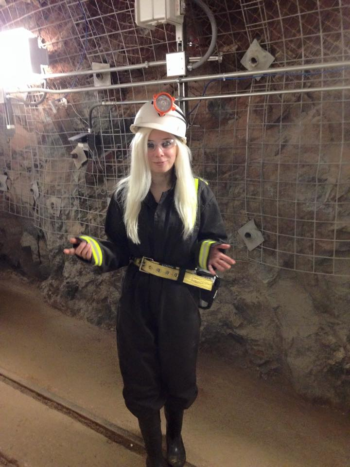 Me in my fashionable mining gear, 4850 feet underground at SURF