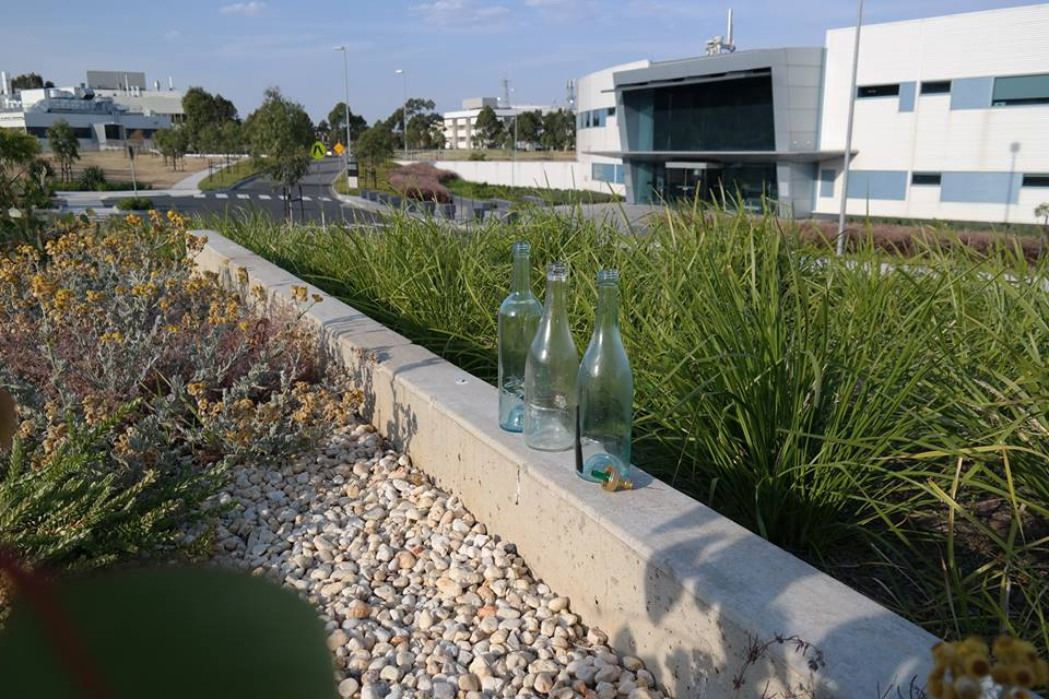 Empty wine bottles at the Australian Synchrotron.