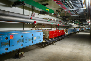 Fermilab's Main Injector accelerator, one of the most powerful particle accelerators in the world, has just achieved a world record for high-energy beams for neutrino experiments. Photo: Fermilab