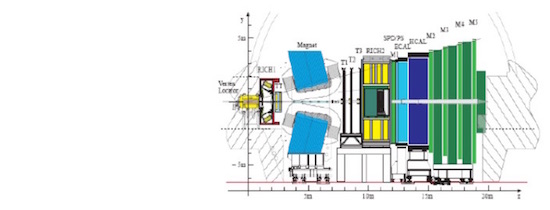 The LHCb schematic, with the approved geometry